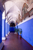 the blue hall of Santa Catalina monastery