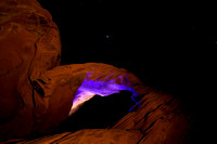 Saturn over Arch Rock, Valley of Fire State Park, NV