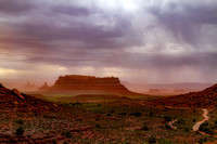 summer storm in Valley of the Gods, UT