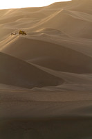 sunset among the Huacachina sand dunes